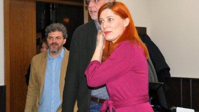 Продуцентът Кръстьо Ламбев,режисьорът Виктор Божинов, сценаристката Ваня Николова представиха проекта си пред Комисията по култура в ОбС - Бургас. Снимки Лина Главинова