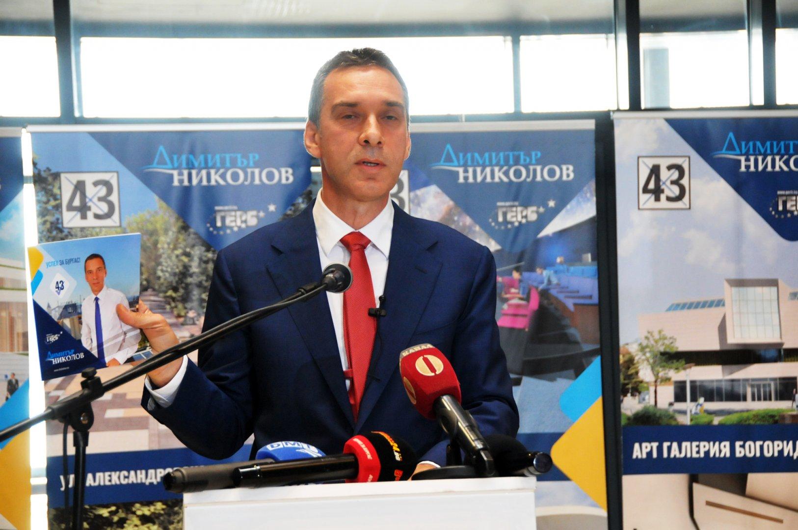 Димитър Николов представи предизборната си програма за управление на Бургас. Снимки Лина Главинова