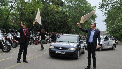 Дипломатът и кметът на Бургас дадоха старт на поредния етап. Снимки Лина Главинова