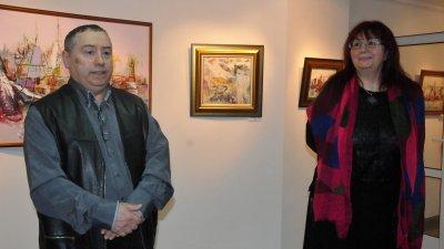 Паруш Парушев гостува за трети път в галерия Бургас.Снимки Лина Главинова
