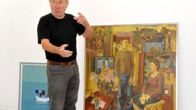 Данчо Маринов отбелязва 75-ия си рожден ден с изложба. Снимка и репродукции Лина Главинова