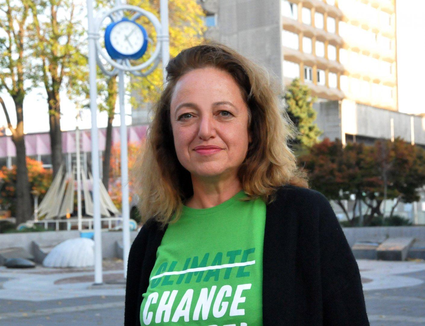 Даниела Божинова има активна гражданска позиция. Снимка Лина Главинова