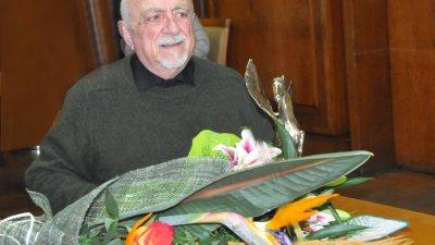 Ваньо Вълчев е носител и на Община Бургас Златен пегас. Снимка Лина Главинова