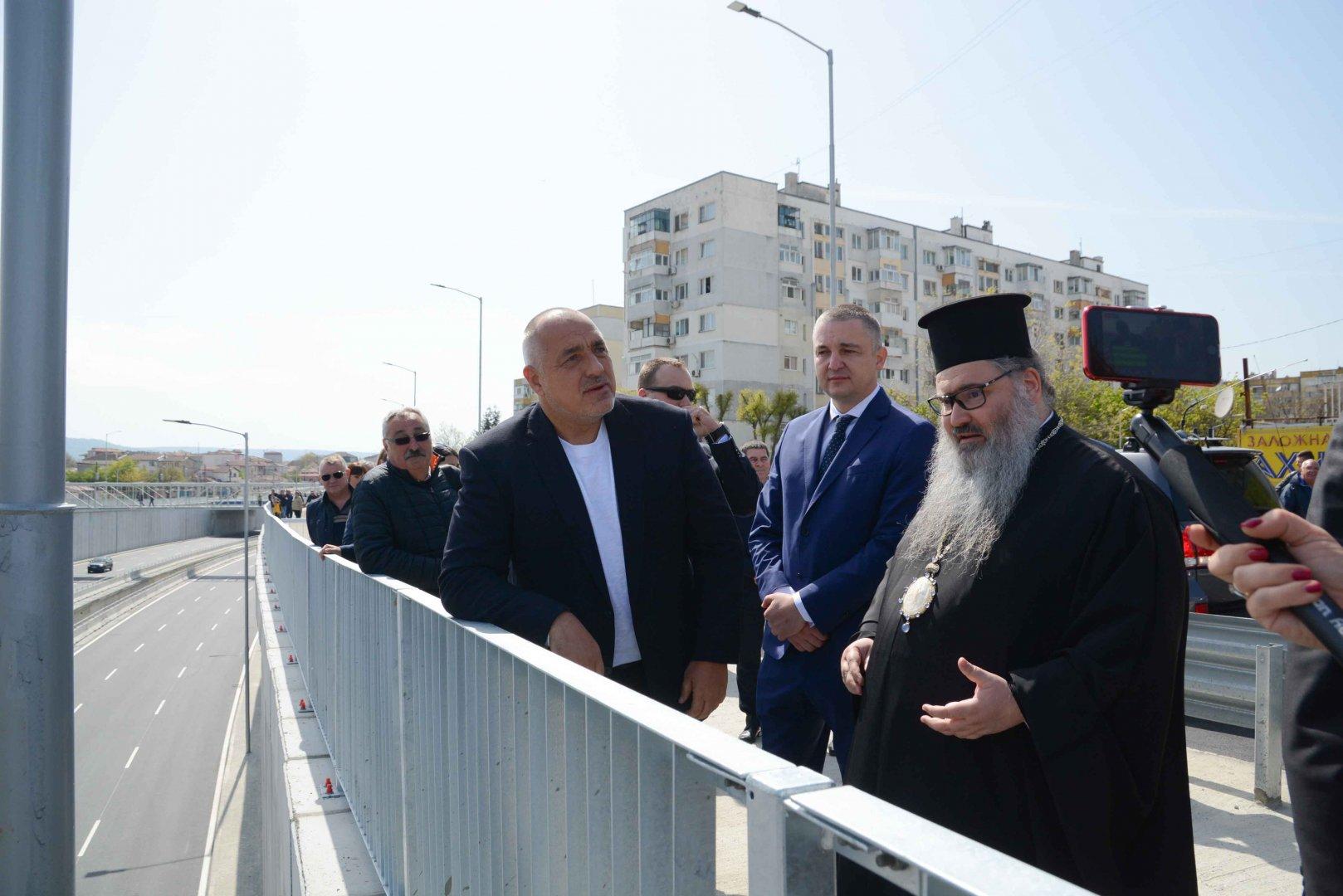 Премиерът Борисов видя на място строителните дейности във Варна. Снимки Министерски съвет