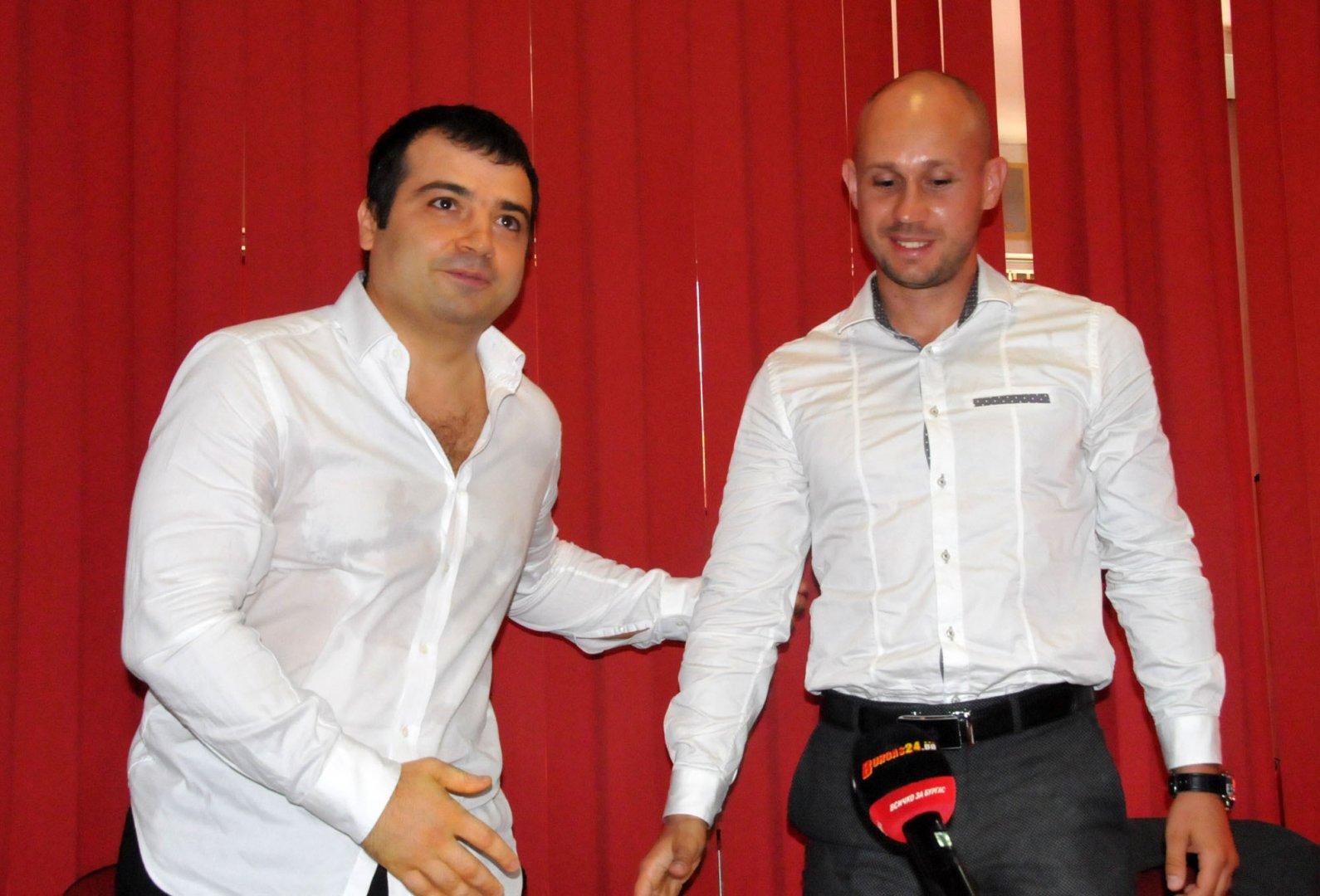 Бисер Русимов (вдясно) ще бъде човекът на ОЗБГ в листата на СЕК. Снимка Лина Главинова
