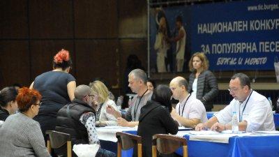 Избирателната активност в община Бургас бе 40,55%. Снимка Лина Главинова