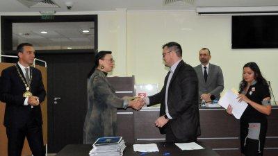 Георги Спасов положи клетва за първия си мандат като съветник. Снимка Лина Главинова