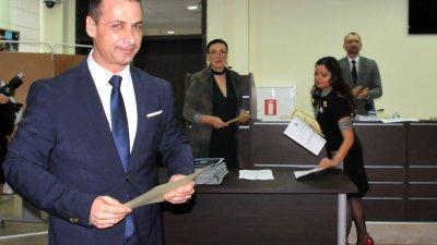 Живко Табаков бе пет години и пет месеца общински съветник в местния парламент на Бургас. Той положи клетвата си за втори мандат на тържествена сесия на 30-и октомври 2019 г. Снимка Архив Черноморие-бг