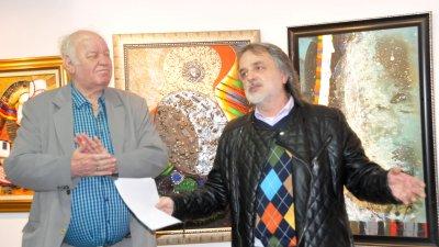 Валентин Дончевски гостува за втори път в галерия Бургас. Снимки Лина Главинова