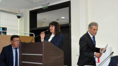 Севдалина Турманова е втората жена председател на ОбС - Бургас. Снимки Лина Главинова