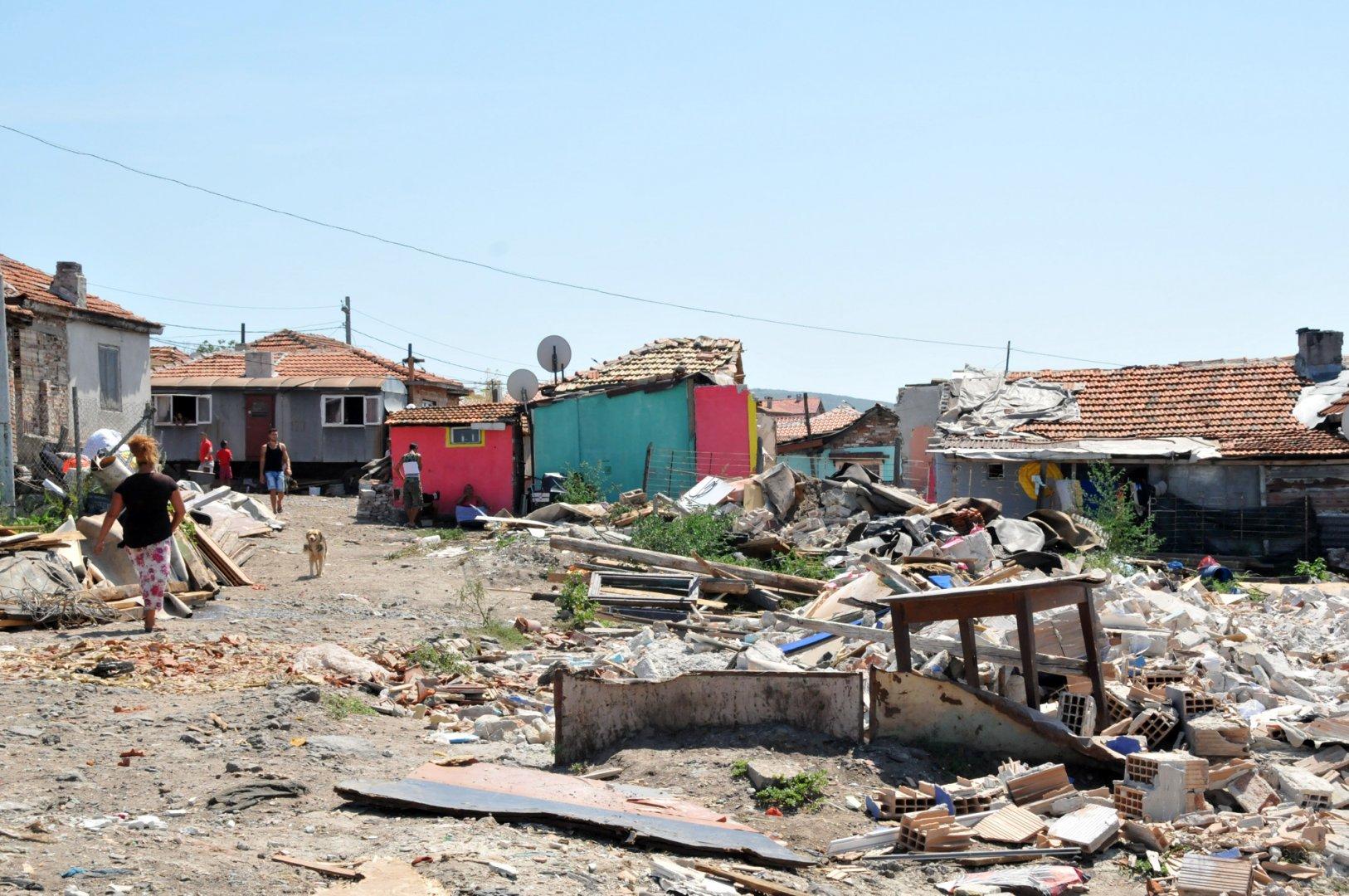 В средата на август бяха съборени незаконни къщи в квартала. Снимка Архив Черноморие-бг