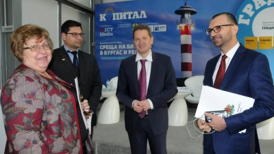 Представители на бизнеса в Бургас се събраха на среща в експоцентър Флора. Снимка Лина Главинова