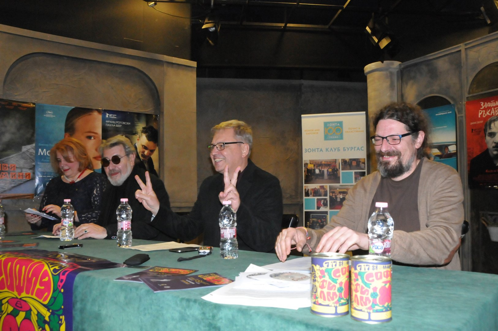Стефан Китанов (вторият отдясно наляво) сподели подробности около фестивала. Снимка Лина Главинова