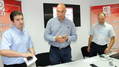 За първи път кандидатите ще попълват декларация за лоялност, каза Живко Господинов (вляво). Снимка Лина Главинова