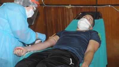 В седмицата преди Великден бе организирана акция по кръводаряване, в която се включиха бургаски спортисти. Снимка Архив Черноморие-бг