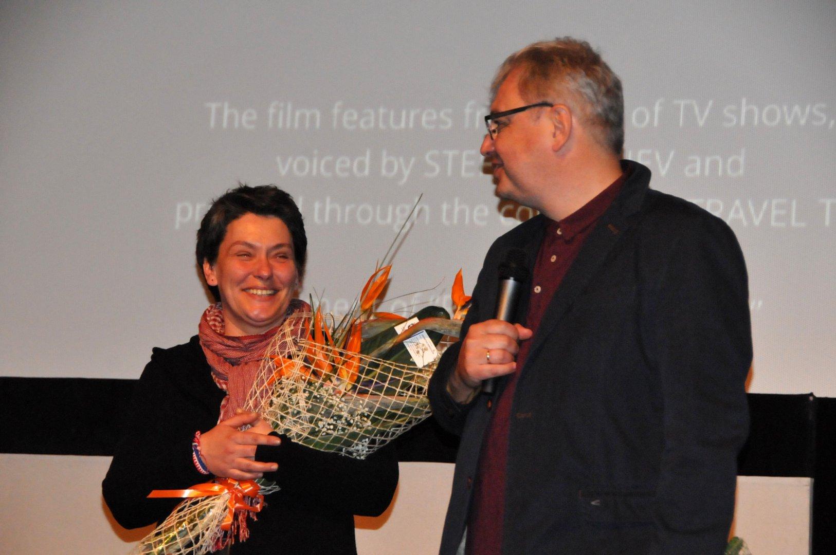 Надежда Косева и Стефан Китанов - Кита представиха филма си Ирина пред бургаската публика. Снимки Лина Главинова