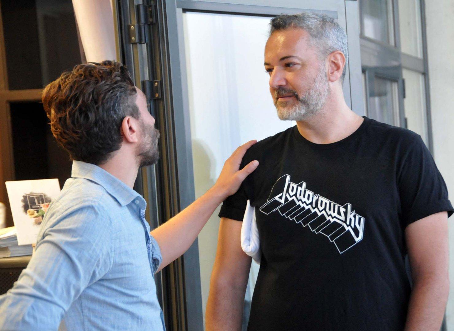 Директорът на IFF Керем Аян (вдясно) е за първи път в Бургас. Снимка Лина Главинова