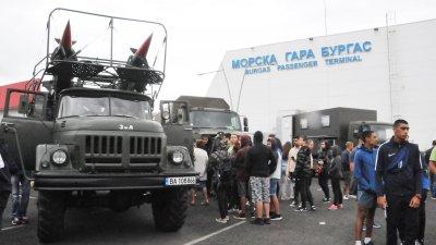 Кампанията Бъди войник включва и Бургас. Снимки Лина Главинова