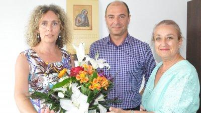 Старши комисар Калоян Калоянов лично поздрави част от екипа на медията