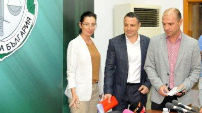 Старши комисар Калоянов (вдясно) отново оглави ОД на МВР в Бургас. Снимка Архив Черноморие-бг