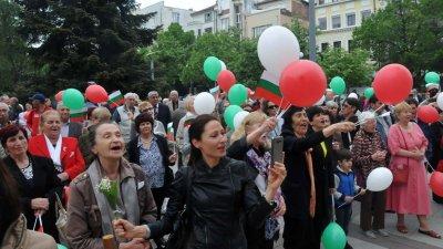 Миналата година митинг-концертът бе на площада пред Община Бургас. Снимка Архив Черноморие-бг