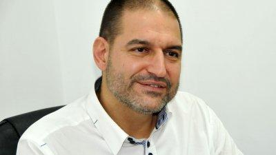 Добрин Вътев е новият председател на Дружеството на бургаските художници. Снимка Лина Главинова