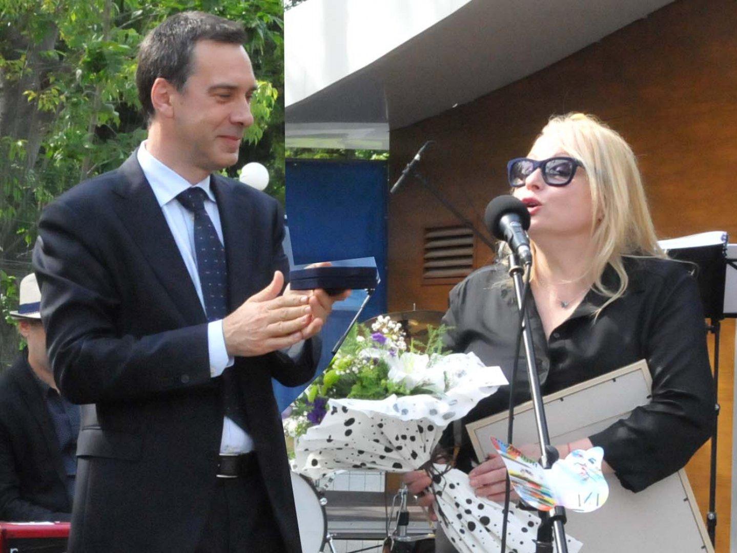 Кметът Димитър Николов и Тони Димитрова за първи път ще направят музикален дует. Снимка Архив Черноморие-БГ