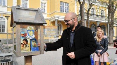 Инициативата е навръх Деня на книгата и авторското право. Снимки Лина Главинова