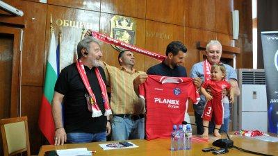 Звезденбург е новият футболен клуб на Бургас. Снимки Лина Главинова