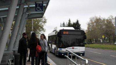 Това е поредният инцидент с автобус на общинската фирма. Снимка Архив Черноморие-бг