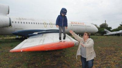 На крилото на Ту -154, на което се качват деца, ще бъде извършен ритуала. Снимка Архив Черноморие-бг