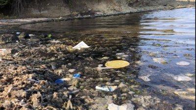 Събрани са 20 чували с боклуци при почистването. Снимки Община Царево
