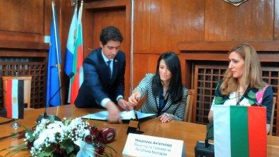 Двамата министри подписаха меморандум за съструдничество. Снимки Лина Главинова