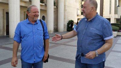 Йордан Георгиев (вляво) и Иво Баев смятат, че до четири месеца може да се постигне споразумение с кредиторите. Снимка Авторът