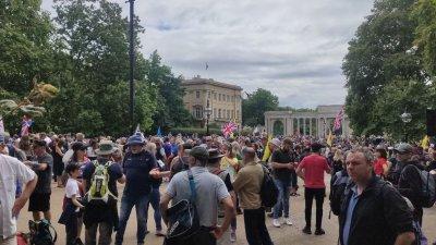 Жители на столицата и на Великобритания излязоха на пореден протест срещу мерките. Снимки и видео Христо Петров