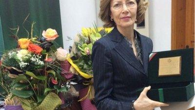 Съдия Нашева получи личен почетен знак първа степен -златен. Снимка Апелативен съд