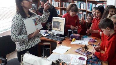 Учениците с желание участваха в инициативите, свързани с четенето. Снимка Авторът
