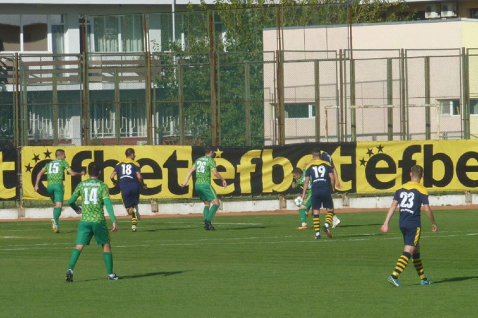 Поморийци победиха като домакини в срещата срещу Добруджа. Снимка ОФК Поморие