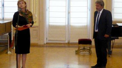 Министър Банов връчи отличието на Мария Бенчева