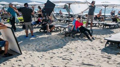 Сериалът е сниман миналата година в Слънчев бряг. Снимки btv