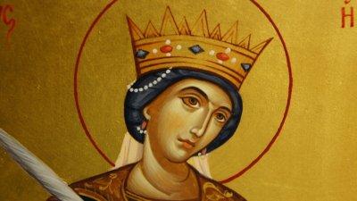Според преданието Екатерина била дъщеря на Конт