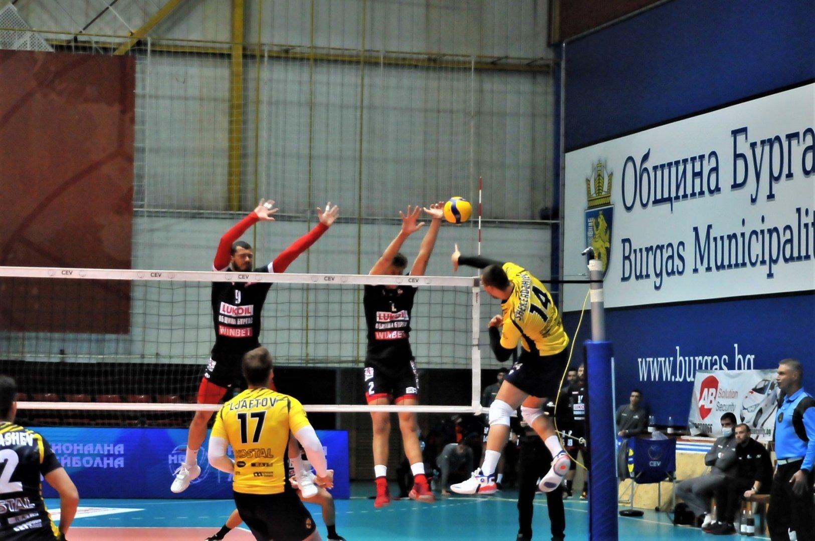 Бургаските волейболисти пропуснаха срещата, заради положителни проби за COVID-19. Снимка Архив
