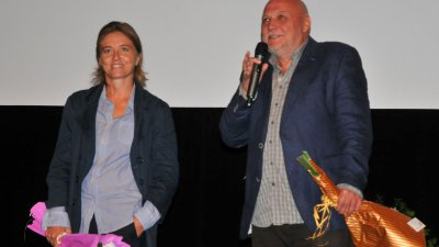 Светла Цоцоркова и Светослав Овчаров бяха специални гости на закриването на фестивала в Бургас. Снимка Черноморие-бг