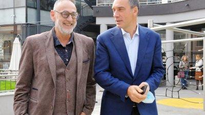 Любен Дилов - син (вляво) за трети път води листата с кандидати за народни представители на ГЕРБ - СДС във Втори МИР - Бургас. Снимки Черноморие-бг