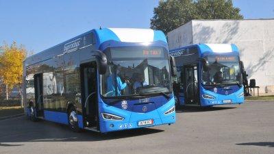 Новите електрически автобуси са закупени по проект на Община Бургас. Снимки Черноморие-бг