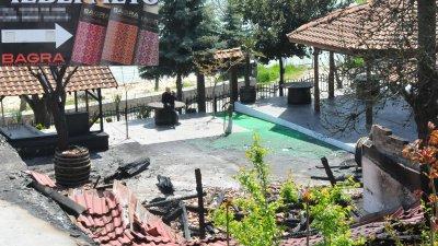 Огънят изпепелил напълно ресторант Чевермето в Несебър. Снимки Черноморие-бг