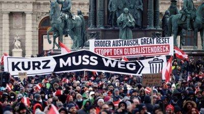 Преди два дни около 50 000 жители на Виена излязоха на протест срещу мерките в страната