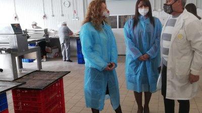 Деница Николова и Севдалина Турманова бяха на среща в Индустриалния парк