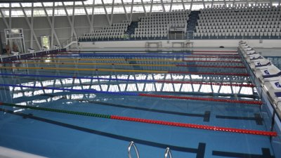 Басейнът в новата зала е с олимпийски размери