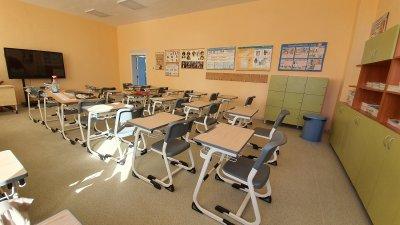 Класните стаи са ремонтирани и обзаведени по проекта Първокласно начало. Снимки Община Бургас